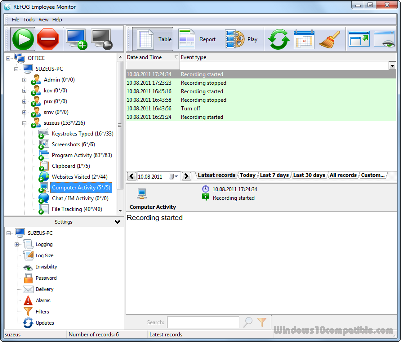 REFOG Employee Monitor 8 2 0 2150 Free download